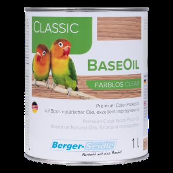 """שמן לפרקט (Classic BaseOil).אקולוגי, קלאסי זמין במבחר גרסאות גוון, כולל בגוון """"בלתי נראה"""" (NOVISINLE) - Classic BaseOil Color 1L"""