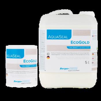 Aqua-Seal EcoGold לכה על בסיס מים, לפרקט ולמדרגות (מיכל של 1 או 5 ליטר)