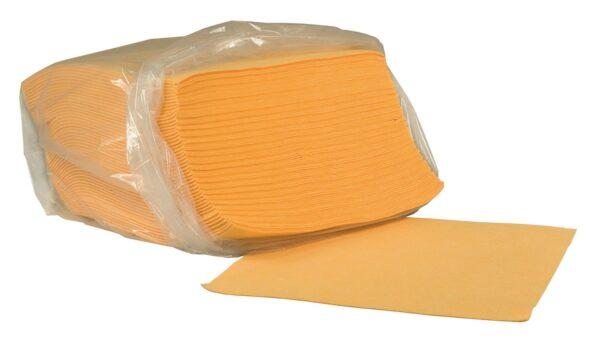 """חבילת מטליות לניגוב שמן מפרקט ורהיטים, כותנה 50X50 ס""""מ מתאים לבאפר/מכונת פוליש"""